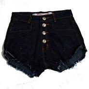 Shorts Jeans Detonado Cintura Alta Desfiado Hot Pants St008