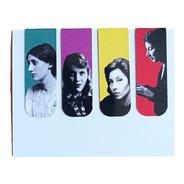 Marcador De Página Magnético Kit 4 Escritoras Mulheres Livro