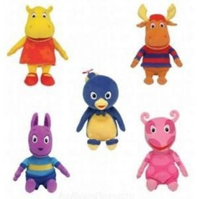 Kit 4 Personagens Pelucia Musical Backyardigans Pelúcia