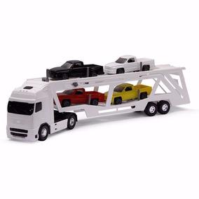 Caminhão Brinquedo Voyager Cegonheira Com 4 Caminhonete Roma