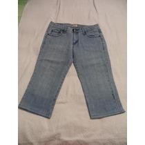 Pantalon Capri De Mezclilla Levi´s Dama 11 Nuevo Rigido