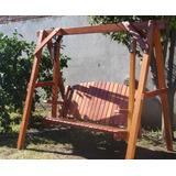 columpio hamaca sillon jardin patio madera dura curupay - Hamacas De Madera