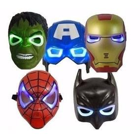 Mascara Vingadores Homem Aranha Hulk Capitão América C/ Led