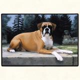 Alfombra Puertas Casas, Americana, Perro Boxer 68 X46 Cms