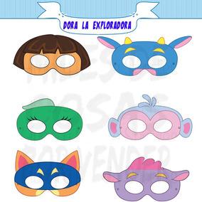 50 Mascaras Antifaces De Dora La Exploradora Zorro Botas Tic