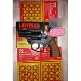 Rambo Lawman Arma Pistola Brinquedo 3 Cart Espoletas E Bbs
