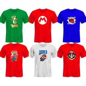 Remeras Super Mario Bros Luigi Wario Yoshi *mr Korneforos*