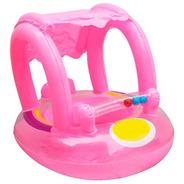 Bote Flotador Inflable Techo Rosado Niña Para Bebé Piscina