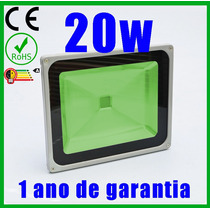 Refletor Led 20w Holofote Verde Bivolt - Pronta Entrega