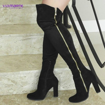 Super Promoção Bota Over The Knee Feminina Via Marte 16-5005