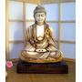 Estatua De Buda En Yeso Patinado