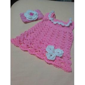 Vestido Tejido A Crochet Para Bebe