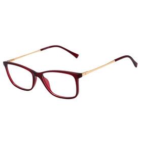 Atitude At 4100 - Óculos De Grau T01 Vermelho E Dourado