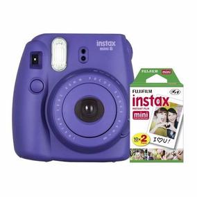 Kit Câmera Instax Mini 8 C/ Filme 20 Folhas +lente De Brinde