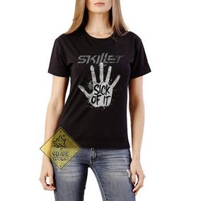 Camiseta Camisa Skillet Banda Rock Sick Of It Unleashed
