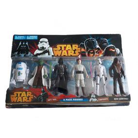 Kit 2 Conjunto Bonecos Star Wars Brinquedo Personagem Filme