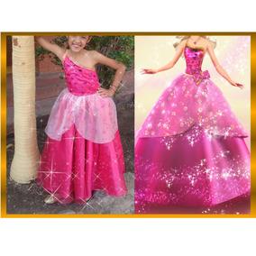 Disfraz/vestido De Princesa Barbie Moda Mágica En París