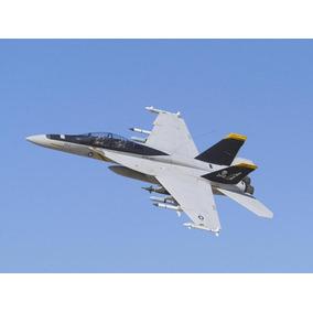 Planta Impressa Jato F-18 Hornet - Motor Pusher 40 A 52