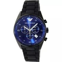 Relógio P203607 Emporio Armani Ar5921 Preto C/ Azul