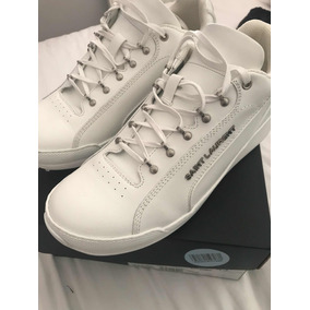 Sneakers Zapatos Tenis Saint Laurent De Piel Blancos 9 Mex
