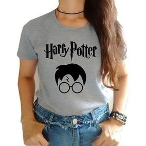 Blusa Feminina Harry Potter Camiseta Baby Look Até Gg Barato