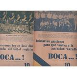 Lote De 6 Revista Partidaria * Boca ..* Año 1942 Foto Equipo
