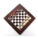 3 En 1 Juego Ajedrez Madera Tablero 34 X 34 Damas Backgammo