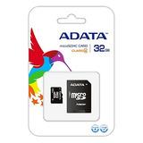 Memoria Micro Sd Adata 32gb Con Adaptador Clase 4