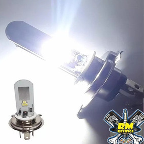 Lampada Farol Em Led Para Moto H4 Super Branca Maior Alcance