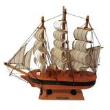 Barco Mediano Madera Hechos A Mano Modelismo Naval 24x24x6cm