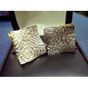 Brincos Lindissimos Com Diamantes Ouro 18k 0,750 !!