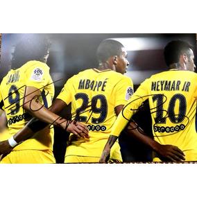 Autógrafo Original : Cavani - Mbappé - Neymar Jr. - 2018
