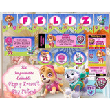 Kit Imprimible Paw Patrol Skye Patrulla Canina Niña+candybar