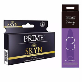 Combo Prime Vibrador + Preservativos Skyn X6 Placer Extremo