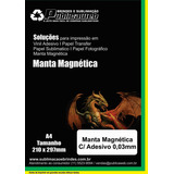 05 Folhas Manta Magnética 0,03mm Imã Adesivada Tamanho A4