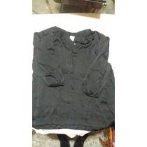 Camisa Negra Manga Tres Cuartos