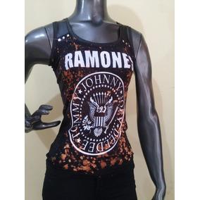 Musculosa Ramones Kiss Metallica - Bandas De Rock