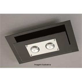 Plafon Spacial Retangular Para 2 Lâmpadas-pantoja E Carmona