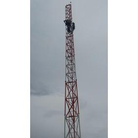 Torre Autoportante 21 Metros Tubular P/ Fm,internet,radio