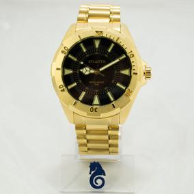 937fe0483b6 Relogio Masculino Dourado Barato - Relógio Atlantis Masculino no ...