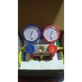 Manómetro Manifold Multigas R22 410 12 Calidad Premium.