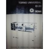 Manual De Torno Mecânico Romi Id-20 Em Pdf