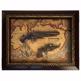 Quadro Duas Armas Replica Decorativa Antiga Retro Medieval