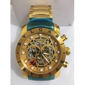 c9c772cb9ea Relogios Bvlgari Dourado Iron Man - Relógios De Pulso no Mercado ...