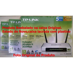 Roteador Wireless:tp-link-tl Wr941nd 300mbps(estado De Novo)