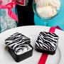Recuerditos Caja Cuadrada Porta Almendra Zebra Animal Print
