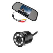Camara De Reversa Con Monitor Tipo Espejo De 4.3 Pulgadas
