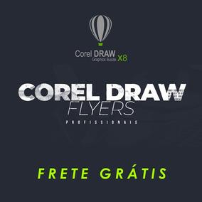 Flyers Editáveis Corel Draw Cdr - Kit Premium Frete Grátis