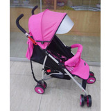 Coche Baston De Aluminio Baby World Rosado