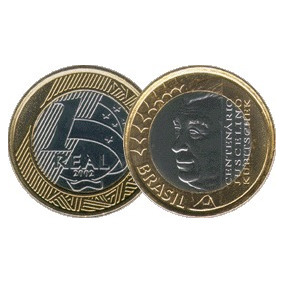 Moeda Comemorativa Centenario J K De R$1